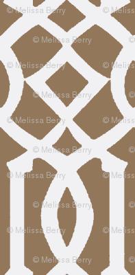 Imperial Trellis Light Brown/White-Large