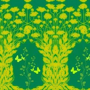 Art Nouveau48-teal/yellow
