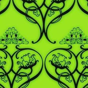 Art Nouveau15-green/black