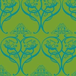 Art Nouveau15-green/teal