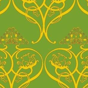 Art Nouveau15-green/orange