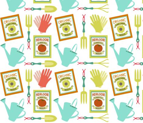 Summer Gardening Essentials - Bright fabric by jills_cloth_shop on Spoonflower - custom fabric