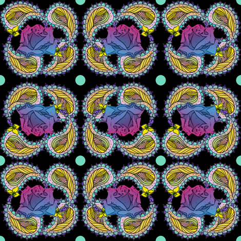 Trippy Rose Paisley fabric by fentonslee on Spoonflower - custom fabric