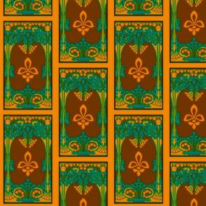 Art Nouveau42-brown/orange