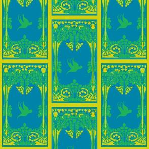 Art Nouveau42-green/blue