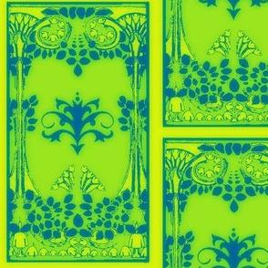 Art Nouveau42-blue/green