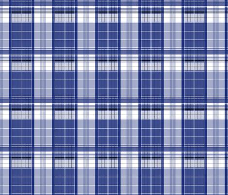 Blue Box Plaid 3 fabric by morrigoon on Spoonflower - custom fabric
