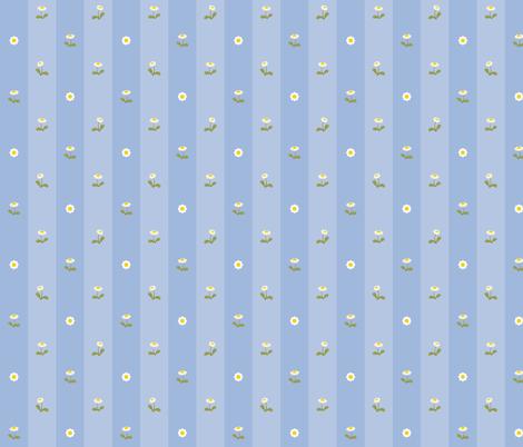Daisy field blue fabric by macywong on Spoonflower - custom fabric