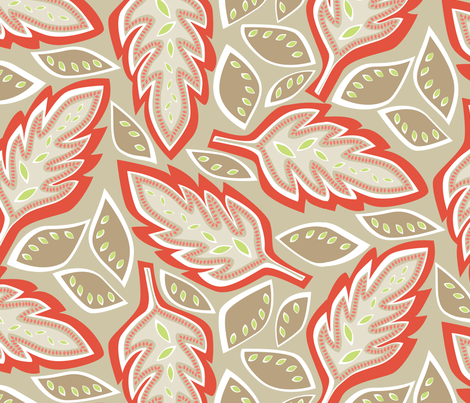Big Leaves fabric by jillbyers on Spoonflower - custom fabric