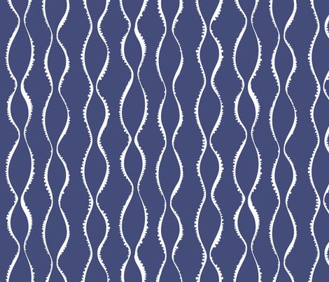 Bubble Waves navy fabric by jillbyers on Spoonflower - custom fabric