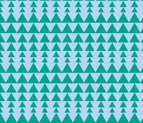 triangles, blue green fabric by gingerbunn on Spoonflower - custom fabric