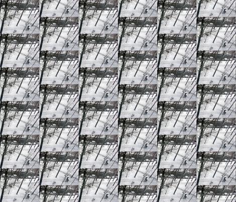Last Snow of the Season, Paris 2013, variation 2a fabric by susaninparis on Spoonflower - custom fabric