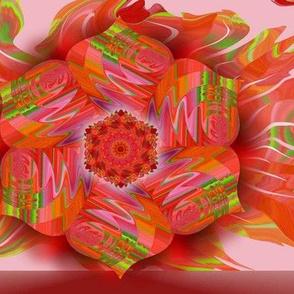Lily Red Mandala