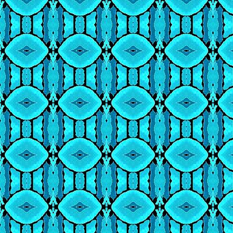 seafoam blue petals fabric by dk_designs on Spoonflower - custom fabric