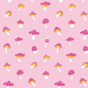 Mushroom toadstool pink