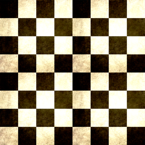 Tarnished Black and White checks fabric by karenharveycox on Spoonflower - custom fabric
