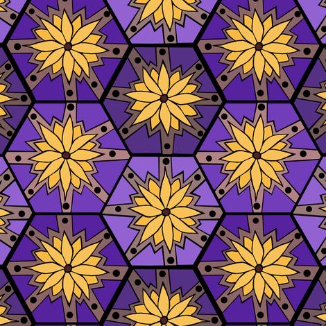 Flower Tile fabric by pond_ripple on Spoonflower - custom fabric