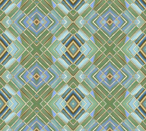 Metro Tiles 2 fabric by susaninparis on Spoonflower - custom fabric