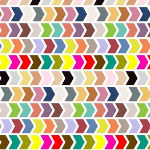Multi Coloured Chevron