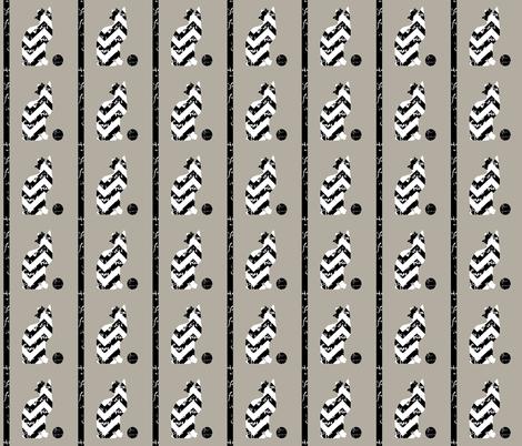 The Chevron Cat fabric by karenharveycox on Spoonflower - custom fabric