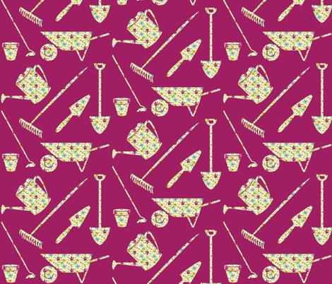 garden-tools fabric by hmooreart on Spoonflower - custom fabric