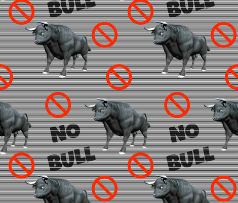 No Bull Zone fabric by whimzwhirled on Spoonflower - custom fabric