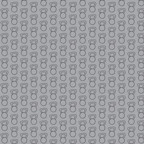 CrossFit - Kettlebells - Black on Gray