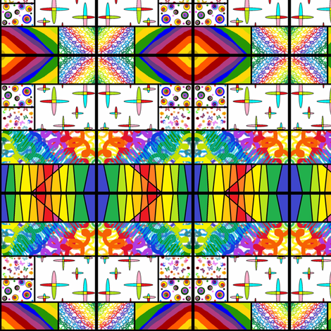 Kaleidoscope of Color fabric by ravynscache on Spoonflower - custom fabric