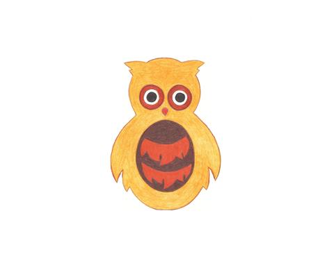 Owlet fabric by lettie_belle on Spoonflower - custom fabric