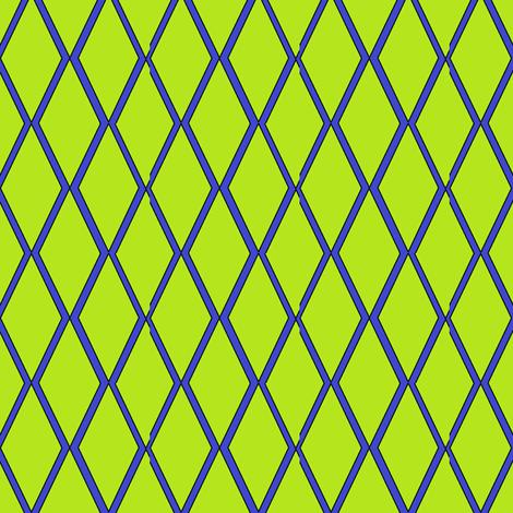 Lime Diamonds fabric by ravynscache on Spoonflower - custom fabric
