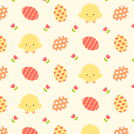 Chick Eggs fabric by tortagialla on Spoonflower - custom fabric