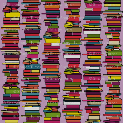 book stack lilac