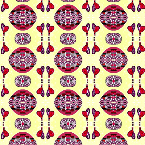 Painted Indian eggs fabric by dk_designs on Spoonflower - custom fabric