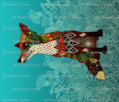 ice floral fox FQ panel
