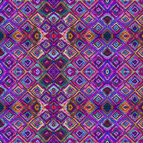 A Trip to India in Indigo and Magenta fabric by theartwerks on Spoonflower - custom fabric