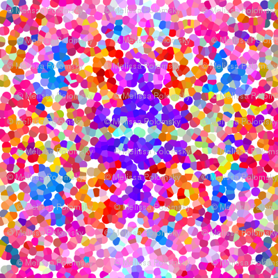 Pointillism in Magenta, Violet, and Orange