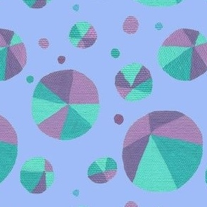 Dotty Triangles Mauve