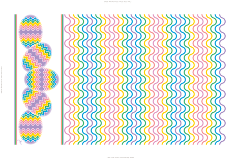 Rainbow Eggs Tea Towel fabric by jjtrends on Spoonflower - custom fabric