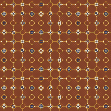 mosaic metal work fabric by glimmericks on Spoonflower - custom fabric