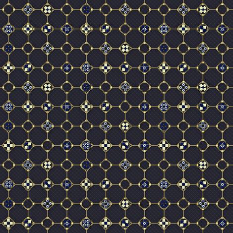 mosaic metal work blue fabric by glimmericks on Spoonflower - custom fabric