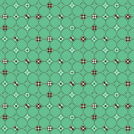 mosaic metal work green mint fabric by glimmericks on Spoonflower - custom fabric