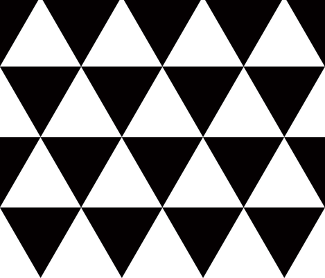 triangles black and white fabric by katarina on Spoonflower - custom fabric