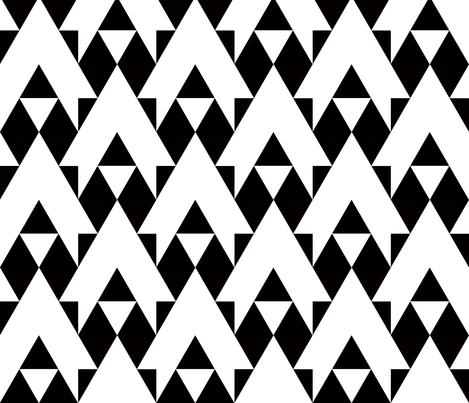 triangles black and white arrows fabric by katarina on Spoonflower - custom fabric
