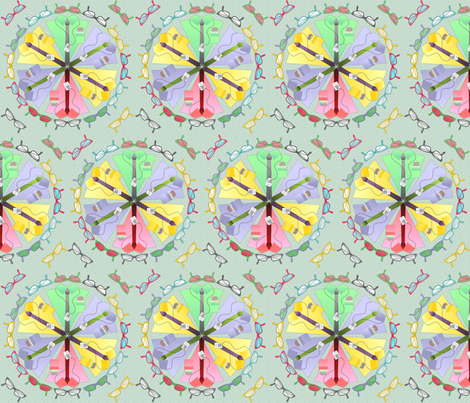 geek dress code mandala fabric by glimmericks on Spoonflower - custom fabric