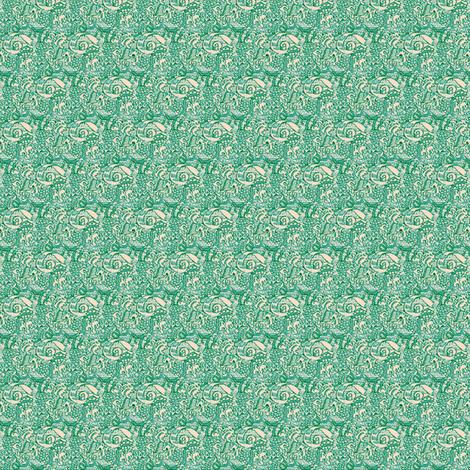 Sea-green Scroll fabric by amyvail on Spoonflower - custom fabric