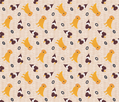 Primitive Golden Retriever and duck decoy - ditzy fabric by rusticcorgi on Spoonflower - custom fabric