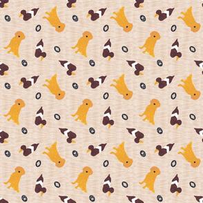 Primitive Golden Retriever and duck decoy - ditzy