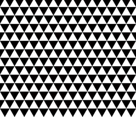 triangles black and white smaller scale fabric by katarina on Spoonflower - custom fabric