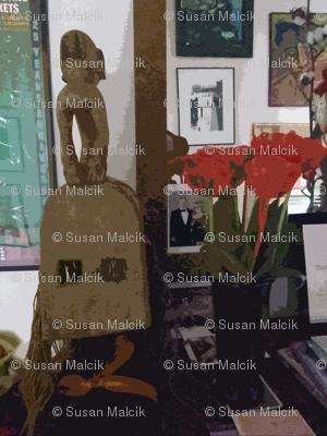 Still life with Dogan White Monkey Mask