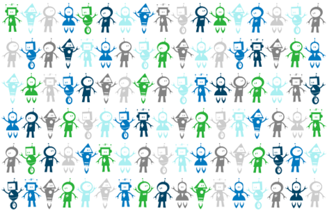 Robots fabric by mcsquared on Spoonflower - custom fabric